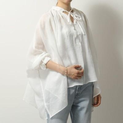 Liviana Conti リビアナコンティ L0SL41 長袖 ブラウス アシンメトリー シャツ A01-0/オフホワイト レディース