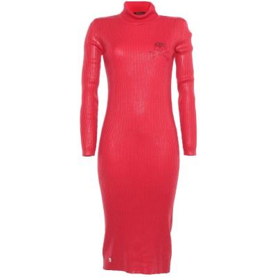 PHILIPP PLEIN 7分丈ワンピース・ドレス レッド S ウール 100% 7分丈ワンピース・ドレス