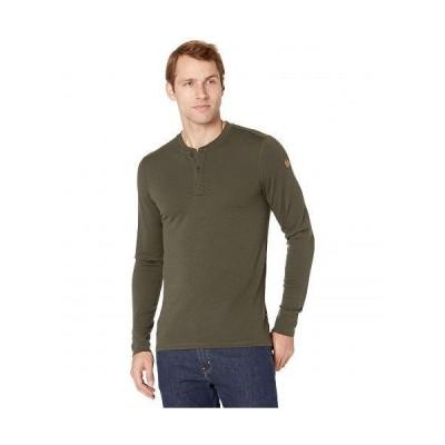 Fjallraven フェールラーベン メンズ 男性用 ファッション Tシャツ Singi Merino Henley - Deep Forest