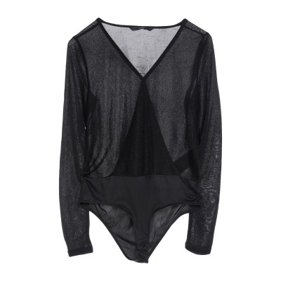 VERO MODA T シャツ ブラック XS ナイロン 88% / 金属繊維 12% T シャツ