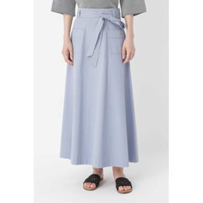 HUMAN WOMAN コットントップODツイルフレアスカート