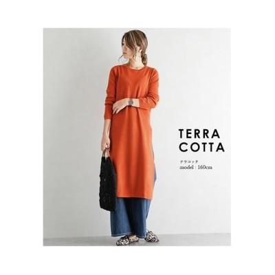 【la-gemme】サイドスリット入りニットワンピース (ワンピース)Dress