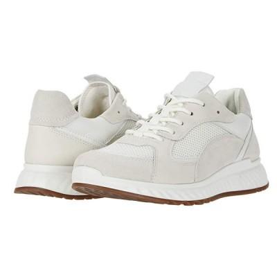 エコー ST.1 Trend Sneaker レディース スニーカー Shadow White/White/Shadow White/White Calf Suede/Yak Leather/Yak
