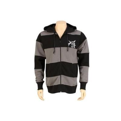 パーカー トレーナー メンズ ハンドレッツ The Hundreds Cuts Zip Up Hoody (black / charcoal) T11F202025BLK