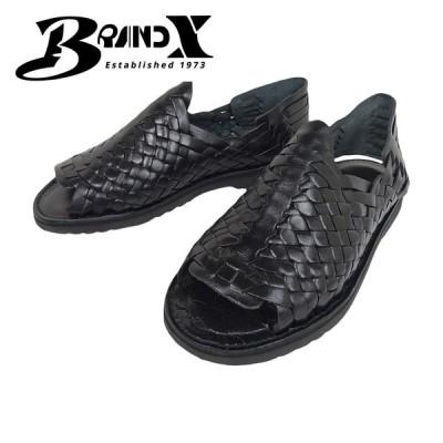 BRAND X ブランドエックス RANCHERO メンズ I98Z5037 Huaraches レザーサンダル ブラック ワラチサンダル ハンドメイド メッシュ並行輸入品