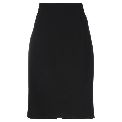 VERSACE COLLECTION 7分丈スカート ブラック 42 ポリエステル 100% 7分丈スカート