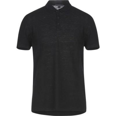 ジョン バルベイトス JOHN VARVATOS メンズ ポロシャツ トップス polo shirt Black