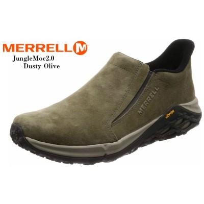 MERRELL(メレル) JUNGLE MOC 2.0 ジャングルモック2.0 スリッポンカジュアルモックシューズ J94523 J94525 J94527 メンズ エアークッションプラスの搭載でスタイリッシュに生まれ変わりました(Dusty Olive94525×26.5cm(8.5インチ))