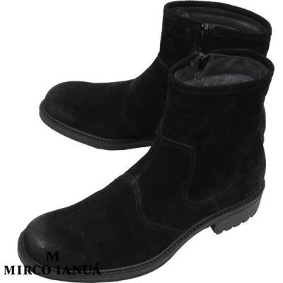 MIRCO IANUA ミルコ イナウア メンズ ムートン ブーツ CAMOSCIO カモーショ 1504 NERO ブラック【セール商品のため返品交換不可】