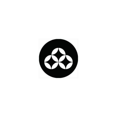 家紋シール 持ち合い三つ七宝紋 直径4cm 丸型 白紋 4枚セット KS44M-1788W