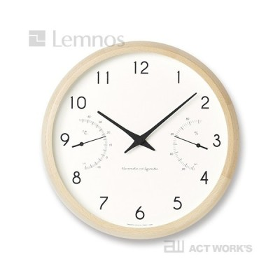 LEMNOS Campagne air カンパーニュ エール 温湿度計付き掛け時計 タカタレムノス