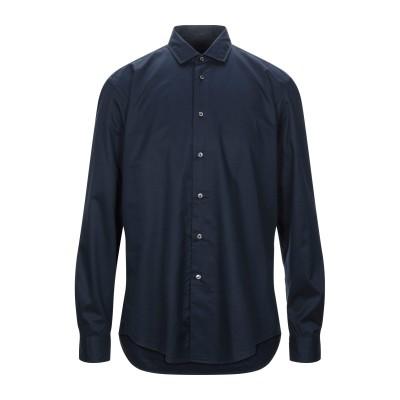 STEFANO CALMONTE per BD シャツ ダークブルー 44 コットン 100% シャツ