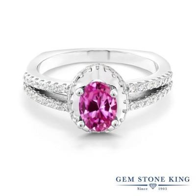 合成ピンクサファイア 指輪 レディース リング 9月 誕生石 金属アレルギー対応