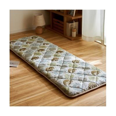 【日本製・綿100%】布団屋さんが作った3層ごろ寝マット(北欧ボタニカル柄)