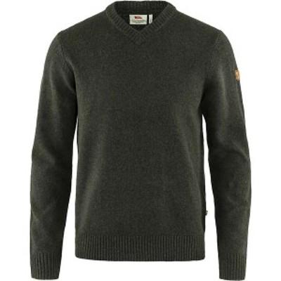 フェールラーベン メンズ ニット・セーター アウター Fjallraven Men's Ovik V Neck Sweater Dark Olive