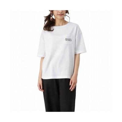 (MAC HOUSE(women)/マックハウス レディース)T-GRAPHICS ティーグラフィックス バックメッセージTシャツ EJ213-WC201/レディース ホワイト