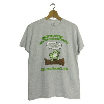 蛙 プリント Tシャツ ボーイスカウト メンズSサイズ USA古着