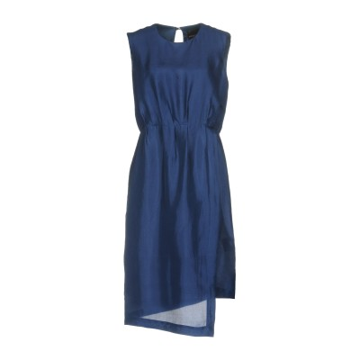 エリカ カヴァリーニ ERIKA CAVALLINI ミニワンピース&ドレス ダークブルー 46 シルク 100% ミニワンピース&ドレス