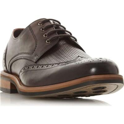バーティ Bertie レディース ローファー・オックスフォード ブローグ シューズ・靴 Packman Weave Woven Detail Brogues Brown