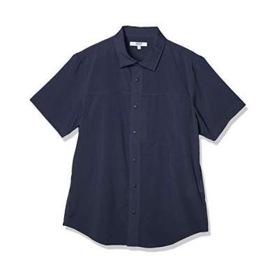 [エーグル] WOVEN SHIRTS 吸水速乾 アエロッシュ 半袖シャツ メンズ ダークネイビー 日本 00M (日本サイズM相当)