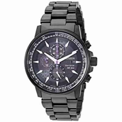腕時計  【並行輸入品】CITIZEN MARVEL BLACK PANTHER シチズン マーベル ブラックパンサー CA0297-52W 腕時計  メンズ 逆輸入 アナログ