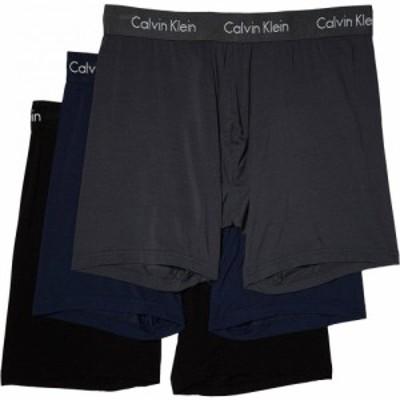 カルバンクライン Calvin Klein Underwear メンズ ボクサーパンツ 3点セット インナー・下着 3-Pack Body Modal Boxer Brief Black/Blue