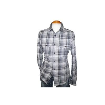 ◆新品 ハムネット ネルシャツ チェック 長袖シャツ ■