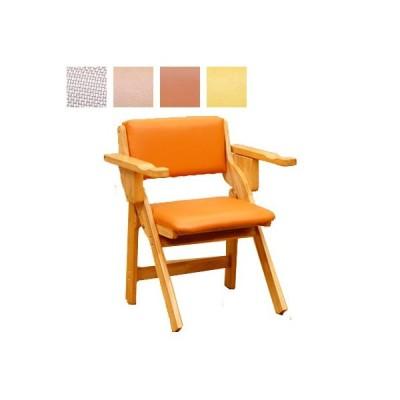 中居木工 天然木 肘付き 折りたたみ椅子 NK-2480 / NK-2481 / NK-2483 / NK-2484[代引不可]