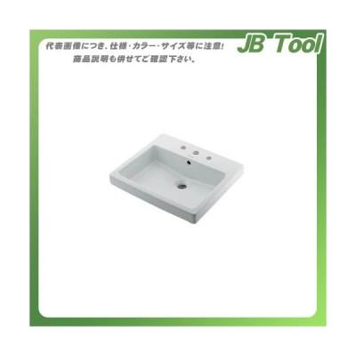 カクダイ 角型洗面器/3ホール DU-0315550030