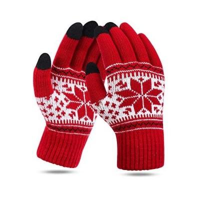 手袋 グローブ てぶくろ スマホ手袋 スマホ対応 レディース 手袋 防寒手袋 ニット手袋 スマートフォン手袋 フォン手袋 ニット手袋 雪柄 柔らか 暖