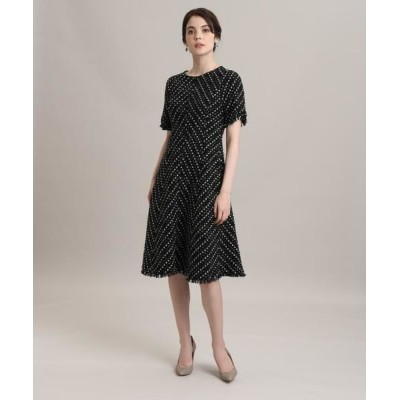 ef-de/エフデ 《M Maglie le cassetto》モールツイードドレス ブラック 09
