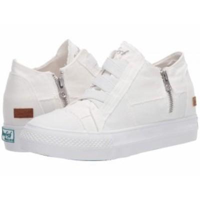 Blowfish ブローフィッシュ レディース 女性用 シューズ 靴 スニーカー 運動靴 Mamba White Color Washed Canvas【送料無料】
