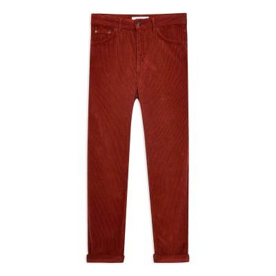 トップショップ TOPSHOP パンツ 赤茶色 25W-32L コットン 100% パンツ