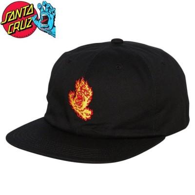 サンタクルーズ SANTA CRUZ キャップ FLAME HAND SNAPBACK HAT ブラック NO39