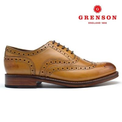 グレンソン スタンレー タン カーフ GRENSON STANLEY 110002 TAN CALF 英国製 革靴 メンズ