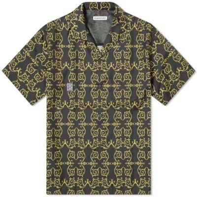 フラグスタフ Flagstuff メンズ 半袖シャツ トップス FLAGSTUFF Vacation Shirt Black/Gold