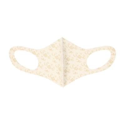 100周年記念 3Dマスク Mサイズ クリーム・花 M