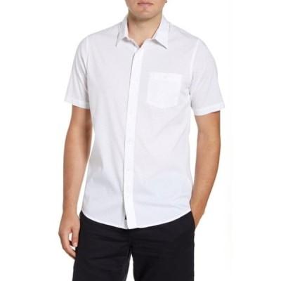 トラビス・マシュー メンズ シャツ トップス Open Ending Regular Fit Short Sleeve Button-Up Sport Shirt WHITE