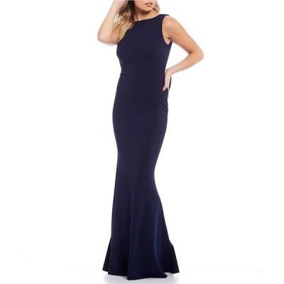 ビーダーリン レディース ワンピース トップス Sleeveless Ruffle Bow-Back Long Dress