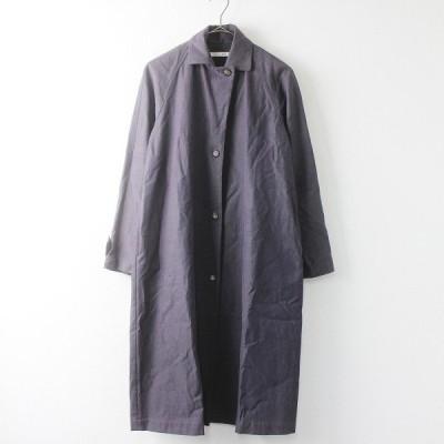 【サマーセール】evam eva エヴァムエヴァ シルク ステンカラー コート 1/チャコール アウター 上着 羽織り 2400011420602 -.