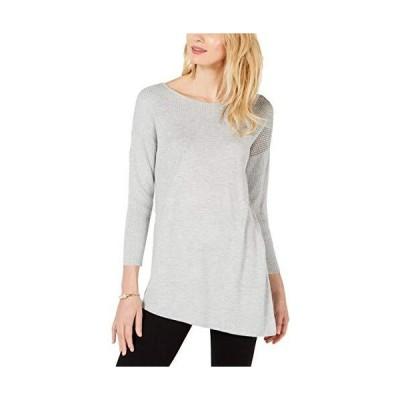 INC Womens Cashmere Blend Asymmetric Tunic Sweater Gray XL並行輸入品 送料無料