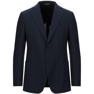 EDDY MONETTI テーラードジャケット ダークブルー 50 ポリエステル 55% / バージンウール 45% テーラードジャケット