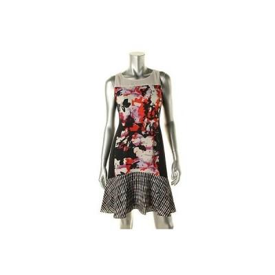 ドレス ワンピース DKNYC DKNYC 6543 レディース プリント ノースリーブ ドロップ Waist カジュアル ドレス BHFO