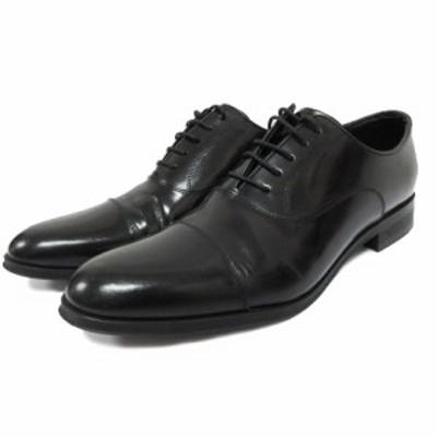 【中古】リーガル REGAL ビジネスシューズ ストレートチップ 革靴 24.5 黒 ブラック 916R メンズ