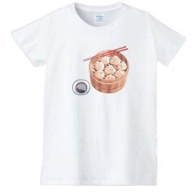 シュウマイ 食べ物 野菜 スイーツ Tシャツ 白 レディース 女性用 jts52