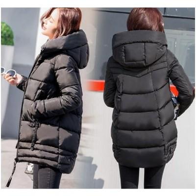 レディース 中綿コート ロングコート 中綿ダウンジャケット  ダウンコート アウター  着痩せ 防寒着  冬  フード付き