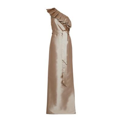 MIKAEL AGHAL ロングワンピース&ドレス サンド 16 ポリエステル 100% ロングワンピース&ドレス