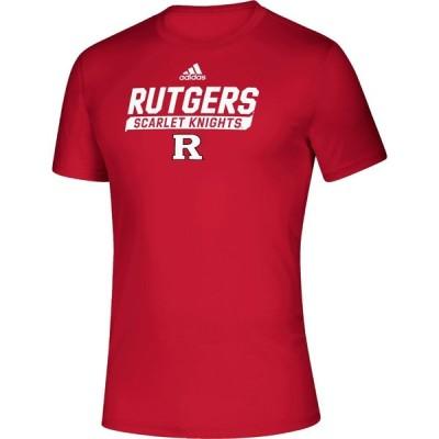 アディダス adidas メンズ Tシャツ トップス Rutgers Scarlet Knights Scarlet Tail Sweep Performance T-Shirt