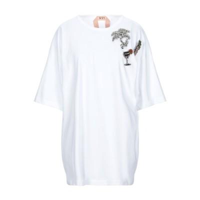 ヌメロ ヴェントゥーノ N°21 T シャツ ホワイト S コットン 100% / コクーン樹脂 / 真鍮/ブラス / ガラス T シャツ