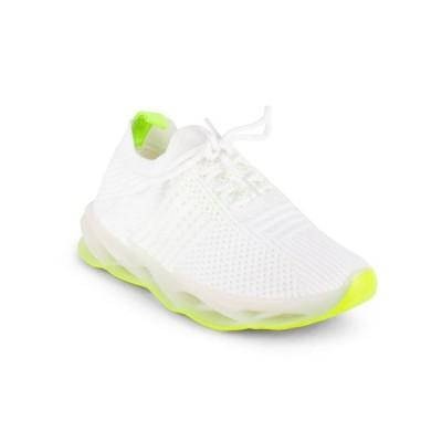 ウォンテッド レディース スニーカー シューズ Women's Marathon Lace Up Neon Sole Sneakers